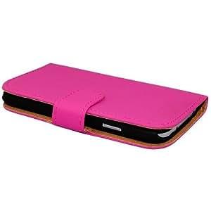 Avcibase carcasa del tirón del cuero de la PU del estilo del libro Samsung i9190 Galaxy S4 Mini rosa