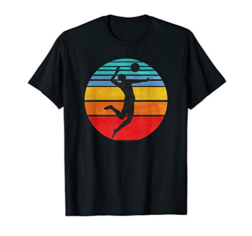 Beach Volleyball Retro Vintage 70s 80s Player Coach Gift T-Shirt (Best Female Beach Volleyball Players)