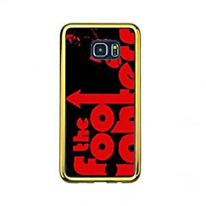 Custom Personalized funda de Cover Samsung Galaxy S6Edge&Plus(Gold Frame) carcasa de telefono American Foo Fighters Rock Band funda de