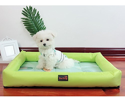 Happy- little -bear Cute Dog Cats Puppy Cooling Pad Cuscino Cold Bed Sleeping Mat (verde, S)