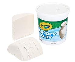 Crayola Air Dry Clay, White, 5lb Bucket,...
