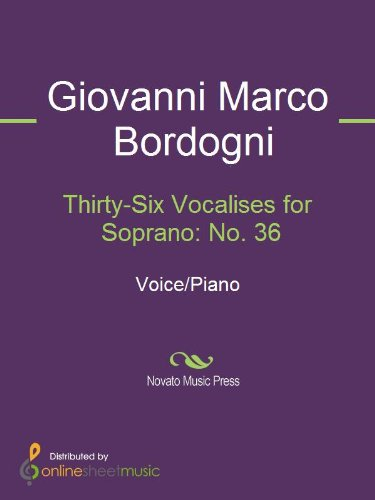 Thirty-Six Vocalises for Soprano: No. 36