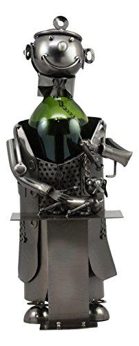 Ebros Veterinarian Surgeon Operating On Dog Wine Bottle Holder Vet Doctor Hand Made Steel Metal Wine Caddy Statue 13