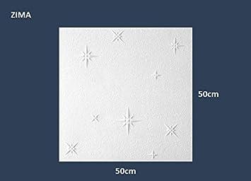 10 m2 Deckenplatten Styroporplatten Stuck Decke Dekor Platten 50x50cm NORMA 2