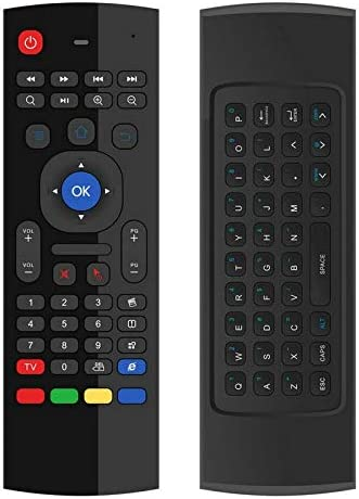 Color: English with Mic Calvas 2.4G MX3 Pro backlight Air Mouse keyboard Russian Voice 5 IR Learning for Android Smart TV Box Laptop PC Remote Control