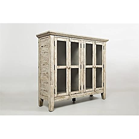 Jofran 1610 48 Rustic Shores Accent Cabinet 48 W X 15 D X 42 H Vintage Cream Finish Set Of 1