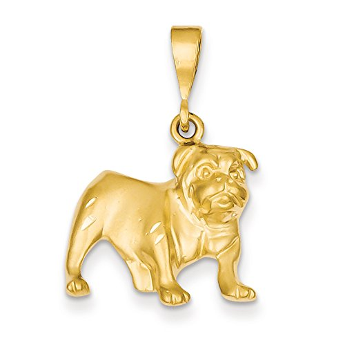 Diamond2Deal 14k Yellow Gold Bulldog Pendant from Diamond2Deal