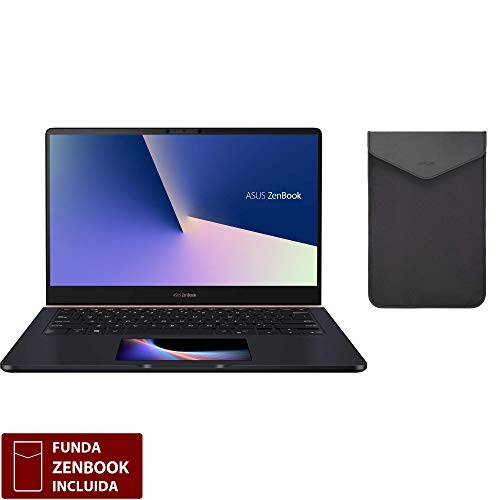 "ASUS ZenBook Pro 14 UX480FD-BE010T - Portátil de 14"" FHD (Intel Core i7-8565U, 16 GB RAM, 512 GB SSD, NVIDIA GeForce GTX1050 4 GB, Windows 10) Metal Azul Profundo - Teclado QWERTY Español 3"