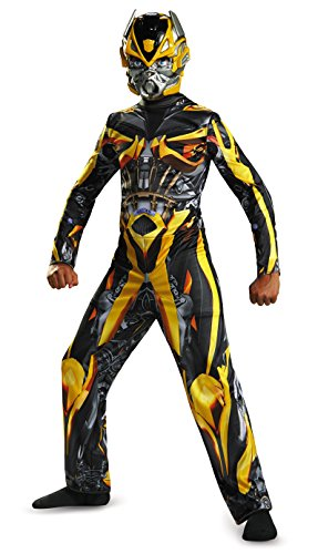 Boy Transformer Costume (Hasbro Transformers Age of Extinction Movie Bumblebee Classic Boys Costume, Large/10-12)