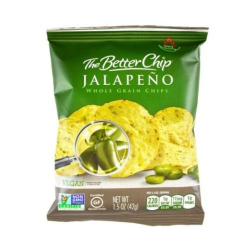 The Better Chip Jalapeno with Sea Salt Tortilla Chips, 1.5 Ounce - 27 per case.