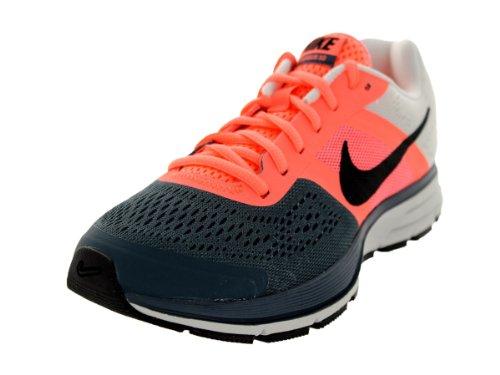 Nike Womem's Air Pegasus+ 30 (WIDE) Atmc Pnk/Blck/Armry Slt/Prl Pn Running Shoe 7 Wide Women US