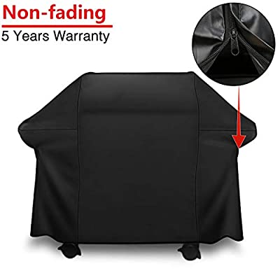 Patiassy 100% Waterproof Gas Grill Cover BBQ Cover 60 Inch for Weber Genesis E and S Series Gas Grills, Size Zippers Design + 5 Years Non Fading Waranty by Patiassy