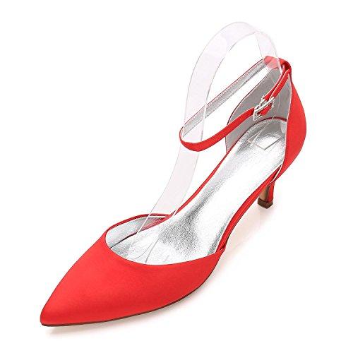 L@YC Damen Hochzeit Schuhe Wies Sandalen Hochzeit/Party & Abend Hochzeit Schuhe Mehr Farben zur Verfügung Red