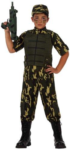 Atosa-10953 Disfraz Militar, Color verde, 7 a 9 años (10953