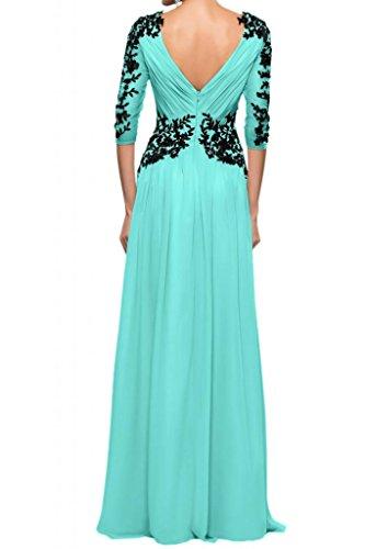 Con estilo de la gasa de la Toscana tul de novia vestidos de novia de encaje apliques por la noche madre de largo bola de vestidos de fiesta Jaeger Gruen