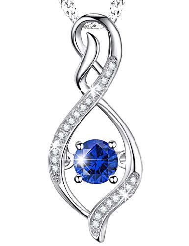 Anniversary Birthday Gift For Women For Her Blue Sapphire Infinity