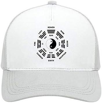 Bagua Symbo Plain Baseball Cap Adjustable Men Women Unisex Sunshade Outdoor Sports Wear