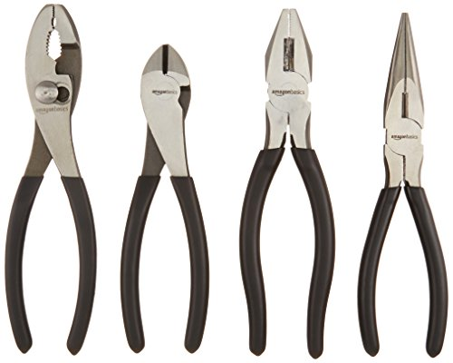 AmazonBasics Tools 4-Piece Pliers Set