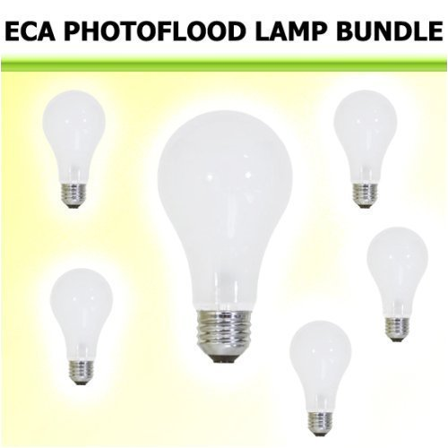 Photoflood Lighting Kit (WIKO Eca Photoflood Lamp 250W 120V (3200K) 6 Bulb Kit)