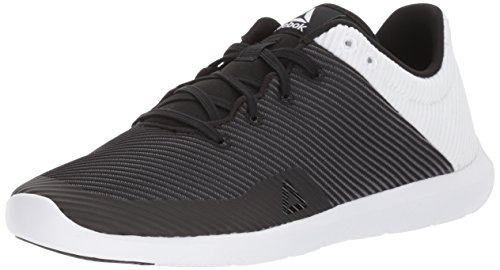 Reebok Women's Studio Basics Dance Shoes, Black/White, 5 D US