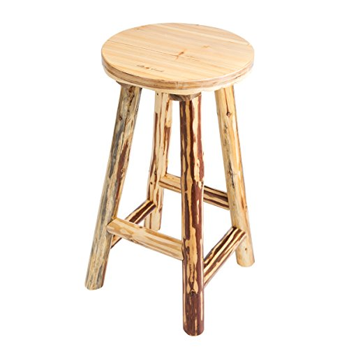 Rush Creek Creations Rustic Reloading Stationary Bar Stool