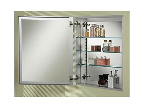 (Afina Broadway Recessed Single Door Medicine Cabinet with Beveled Mirror Size - 24W x 30H in. )