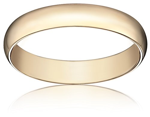 Standard Comfort-Fit 18K Yellow Gold Band, 4mm, Size 8.5