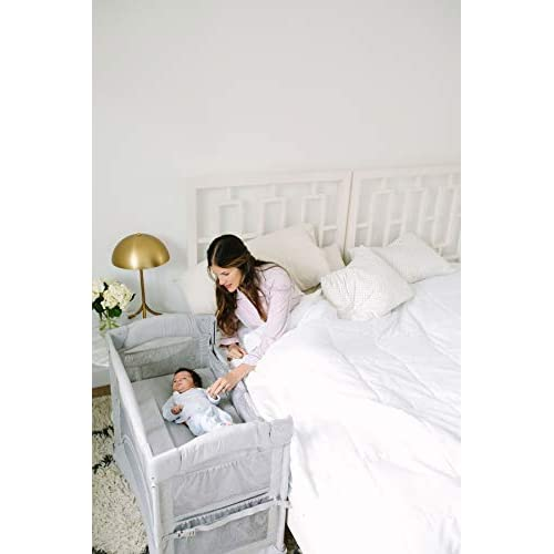 Image of Baby Arm's Reach Concepts Mini Ezee 2-in-1 Co-Sleeper Bassinet - Grey