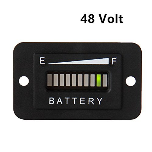 Aimila 48V LED Battery Indicator Meter Gauge Charge Discharge Testers for Lead-acid Battery Motorcycle Golf Cart Car Jet Ski