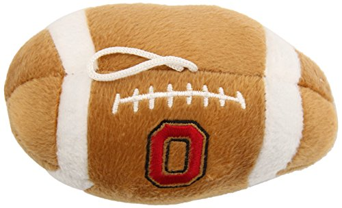 Sporty K9 NCAA Ohio State Buckeyes Plush Football Pet Toy, 5-inch Long with Inner Squeaker (Ohio Puppy State)