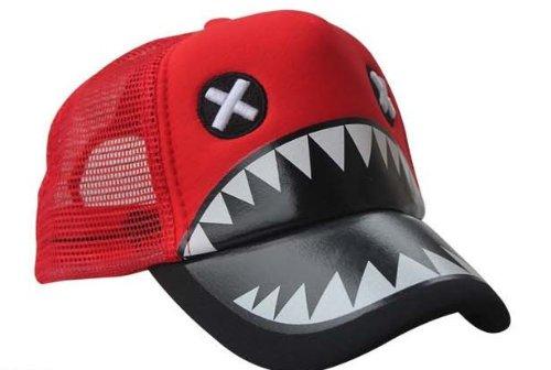 Allkpoper Kpop Bigbang G-Dragon hat/GD hiphop cap(fx EXO Song Jihyo running man shark hat gift) (Red)