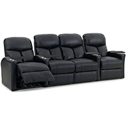 Octane Seating BOLT-R4SLM-BND-BL Octane Bolt XS400 Leather Home Theater Recliner Set (Row of 4)
