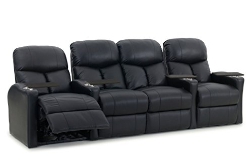 Cheap Octane Seating BOLT-R4SLM-BND-BL Octane Bolt XS400 Leather Home Theater Recliner Set (Row of 4)