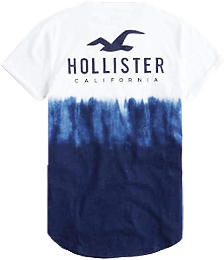 Hollister .. - Camiseta de Manga Corta para Hombre, Color Azul - Azul - Large: Amazon.es: Ropa y accesorios