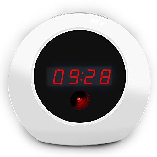 Sappywoon HD Hidden Camera Alarm Clock - Fashion Home Security Cam Loop Video Recorder Remote Controller Operation