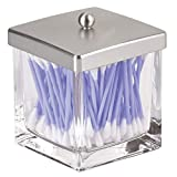 mDesign Modern Glass Square Bathroom Vanity
