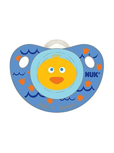 Amazon.com: 4 Chupetes Nuk 0 – 6 meses – Boy Girl Gemelos ...