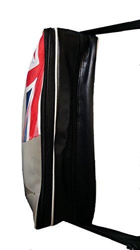 World of Shawls - Bolso estilo cartera para mujer SCHAL:Blau/Rot & TASCHE Union Jack/Bus/Big Ben