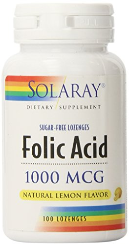 Solaray Folic Acid Lozenges, 1000mg, 100 ()