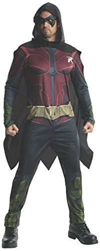Rubie's Men's Batman Arkham City Adult Robin, Multicolor, Medium ()