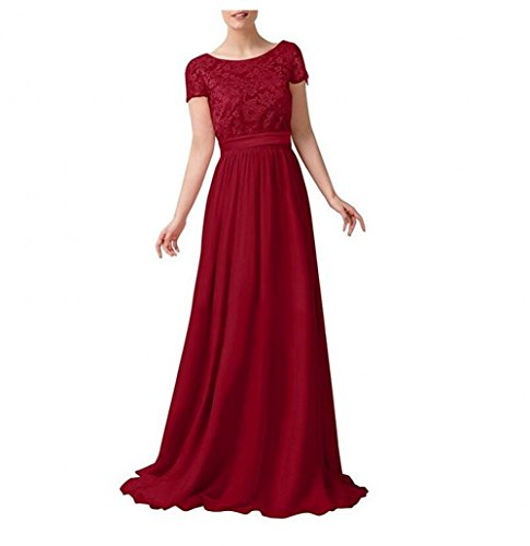 burgunderfarben Beauty Kleid KA Damen KA Beauty xnvC6qB