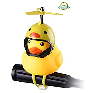 Lovely Rubber Duck Toy car Accessories, Easy to Install, with Silicone Elastic Belt, Propeller Handle, Suitable for Outdoor car Dashboard Decoration
