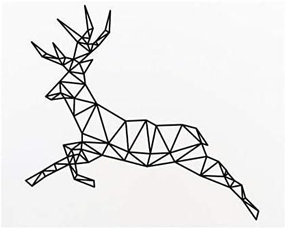Mrlwy Etiqueta de la pared Ciervos Sólido Geométrico Tatuajes de ...
