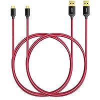 [2-Pack] Anker 6ft / 1.8m Nylon Braided Tangle-Free Micro...