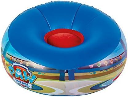 Paw Patrol Silla Hinchable Infantil, Vinilo, Azul, 0.46x65.00x65.00 cm