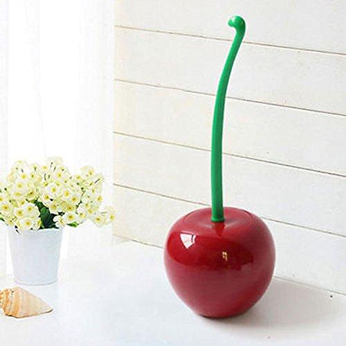 Cherry Lovely (NEW Creative Lovely Cherry Shape Lavatory Brush Toilet Brush&Holder Set (Red))