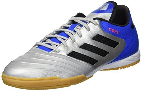 Image of adidas Men's Copa Tango 18.3 Indoor Soccer Shoe, Silver Metallic/Black/Football Blue, 10 M US