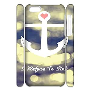 DIY High Quality Case for Iphone 5C 3D, I Refuse to Sink Phone Case - HL-R659042 wangjiang maoyi