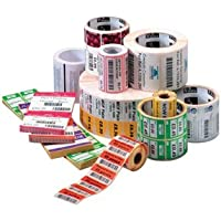 Zebra Label Paper 4 x 5in Thermal Transfer Zebra Z-Select 4000T 1 in core - 4 Width x 5 Length - 570/Roll - 1 Core - 6 / Carton - Bright White