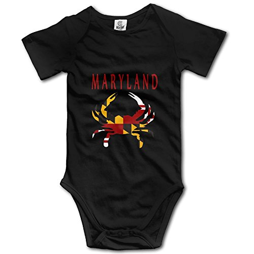 ONE SUIT Maryland Flag Crab Funny Baby Onesies Infant Clothes Boys Girls Bodysuit Jumpsuit Rompers Baby ()